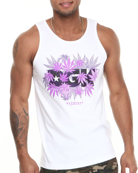Dgk - Men White Home Grown Tank