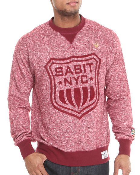 Sabit Maroon,Red Masao Crew Sweatshirt