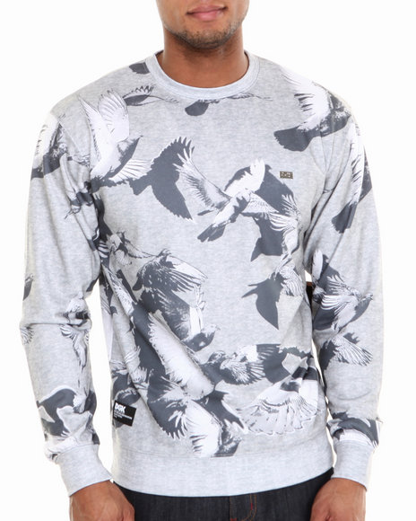 DGK Grey Survival Crew Fleece Sweatshirt