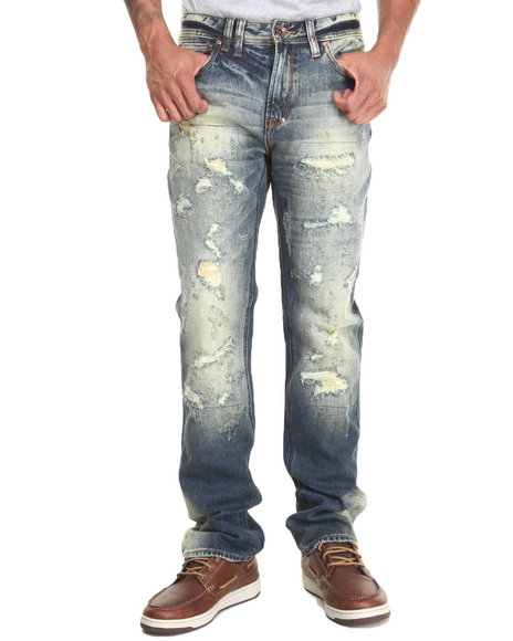 Akoo - Men Blue Big Oak Jeans