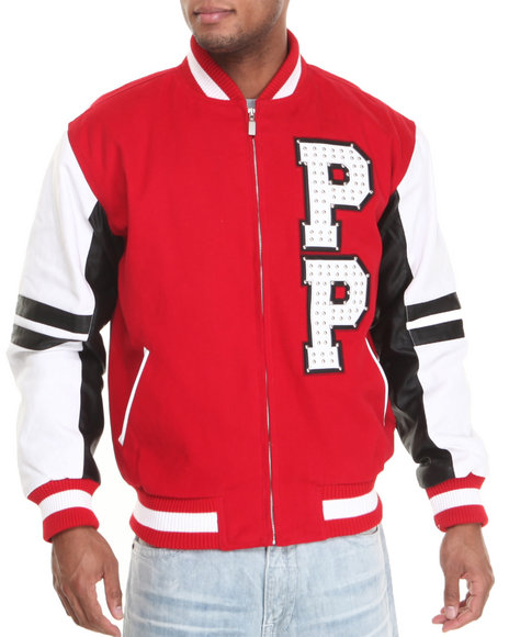 Pelle Pelle Red Varsity Panther Twill Jacket