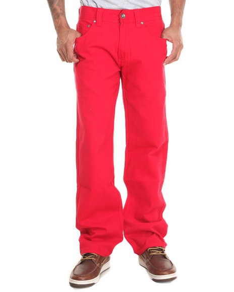 Pelle Pelle - Men Red Wheatfield Twill Pants