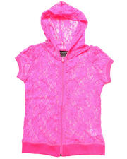 Sizes 7-16 - Big Kids - S/S LACE HOODIE (7-16)