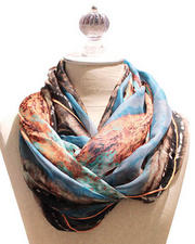 Accessories - Silky Floral Voile Scarf