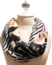 Gloves & Scarves - Chevron Floral Scarf