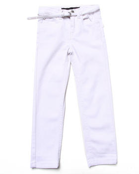 La Galleria - BELTED SKINNY TWILL PANTS (4-6X)