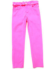La Galleria - BELTED NEON SKINNY TWILL PANTS (7-16)