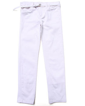 La Galleria - BELTED SKINNY TWILL PANTS (7-16)