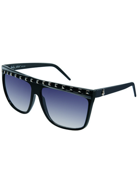 Baby Phat Women Flat Top Stud Trim Sunglasses Black