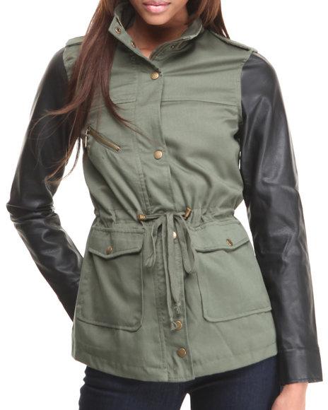 Basic Essentials - Women Olive Inspector Deck Lightweight Mix
