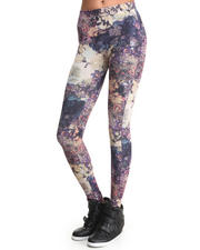 Women - Flower Garden Print Legging