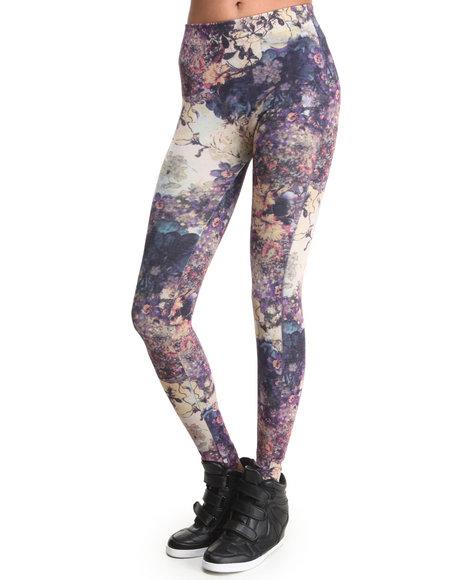 Fashion Lab Multi Flower Garden Print Legging
