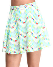 Bottoms - Aztec Print Skater Skirt