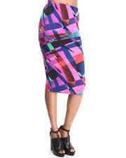 Baby Phat - Graphic Print Pencil Midi Skirt