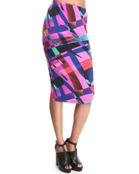 Baby Phat - Graphic Print Pencil Midi Skirt