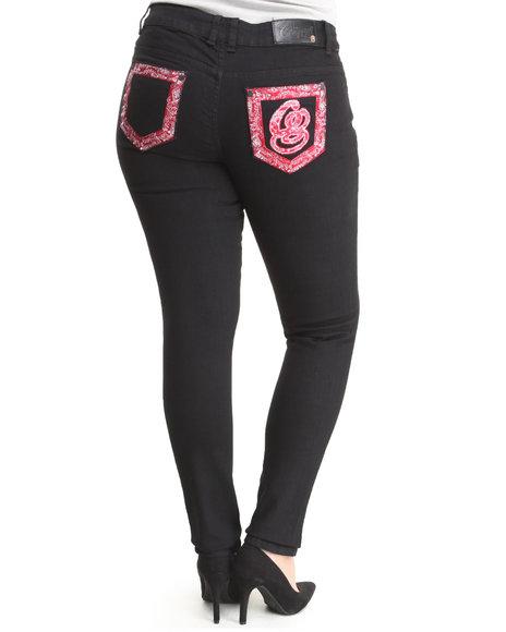COOGI Black Coogi Delicious Denim Jeans (Plus Size)