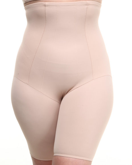 Drj Lingerie Shoppe - Women Beige Hi-Waist Thigh Slimmer Ultra Firm Control (Plus)