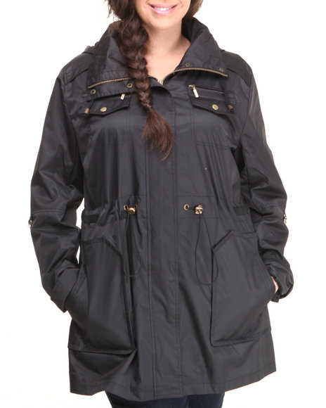 Basic Essentials - Women Black Linda Rolled Up Sleeve Light Weight Jacket