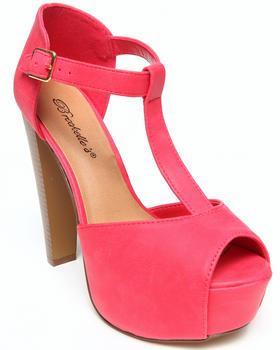 Fashion Lab - Brianna Peep Toe T-Strap Platform Pump