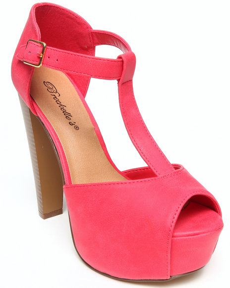Fashion Lab - Brianna Peep Toe T-Strap Platform Pump
