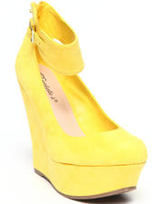 Fashion Lab - Chloe Platform Wedge w/ Ankle Strap