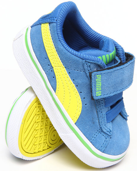 Puma Boys Blue Puma S Vulc Sneakers (5-10)
