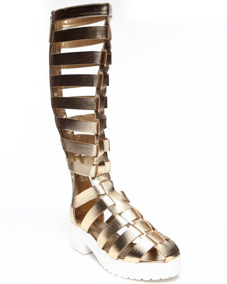 Fashion Lab - Women Gold Teresa Tall Gladiator Sandal