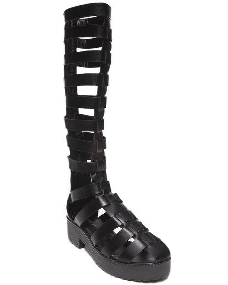 Fashion Lab - Women Black Teresa Tall Gladiator Sandal