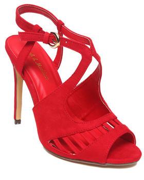 Fashion Lab - Rachel Faux Suede Strappy Peep Toe Pump