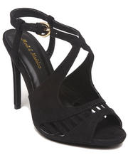 Fashion Lab - Rachel Faux Suede Strappy Peep Toe Pump