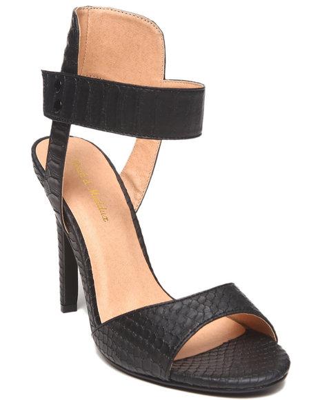 Fashion Lab - Sonia Faux Snakeskin Peep Toe Ankle Strap Pump