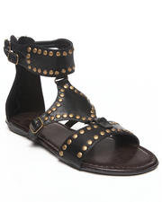 Fashion Lab - Britney Embellished Ankle Buckle Flat Sandal