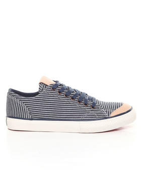 The Hundreds - Valenzuela Low Hickory Stripe Denim Sneakers