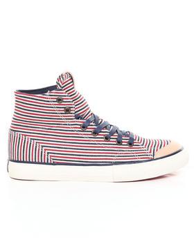 The Hundreds - Valenzuela High Hickory Stripe Denim Sneakers
