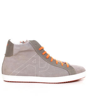 Armani Jeans - Washed Leather Hi-Top w/ Contrast Laces