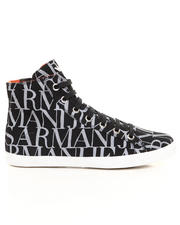 Armani Jeans - Logo Print Canvas Hi-Top