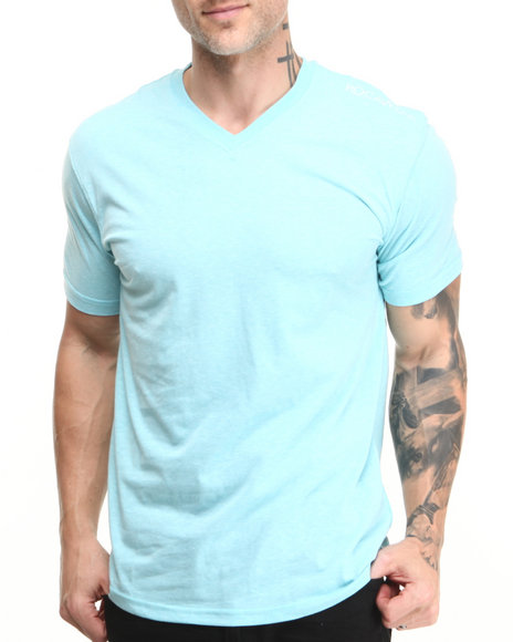 Rocawear Light Blue Volume Heathered V-Neck Tee