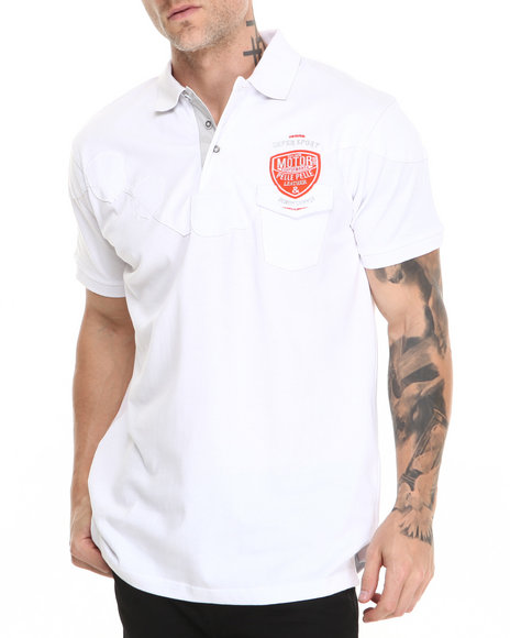 Pelle Pelle - Men White Below Pocket Polo Shirt - $39.99