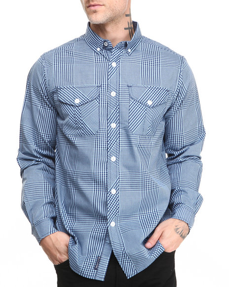 Rocawear - Men Blue A Children's Story L/S Button-Down