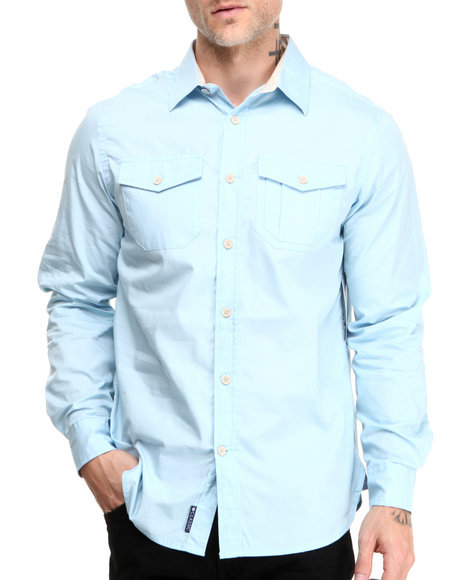 Rocawear Blue Blueprint L/S Button-Down