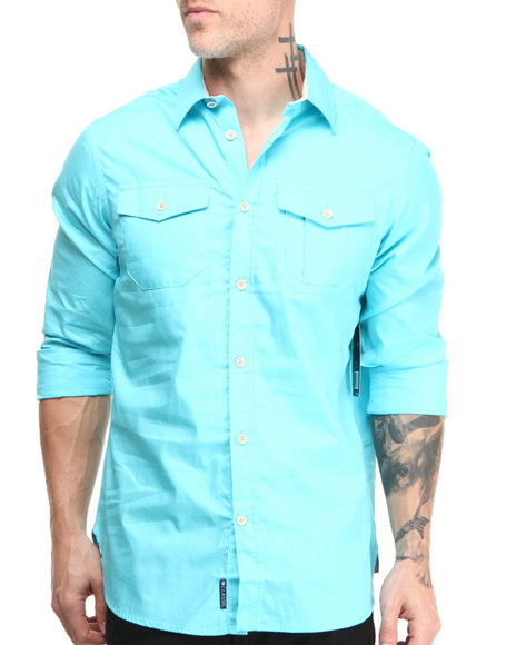 Rocawear Light Blue Blueprint L/S Button-Down