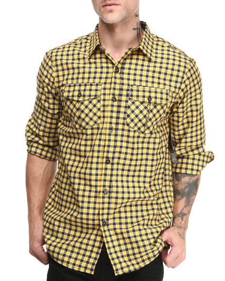 Rocawear Yellow Everyday L/S Button-Down
