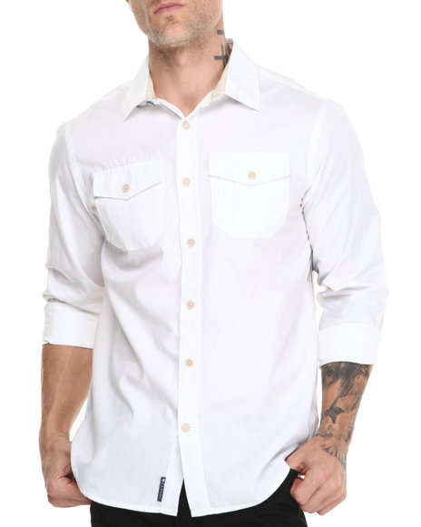 Rocawear White Blueprint L/S Button-Down