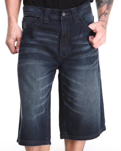Pelle Pelle Dark Wash Flap Pocket Shorts