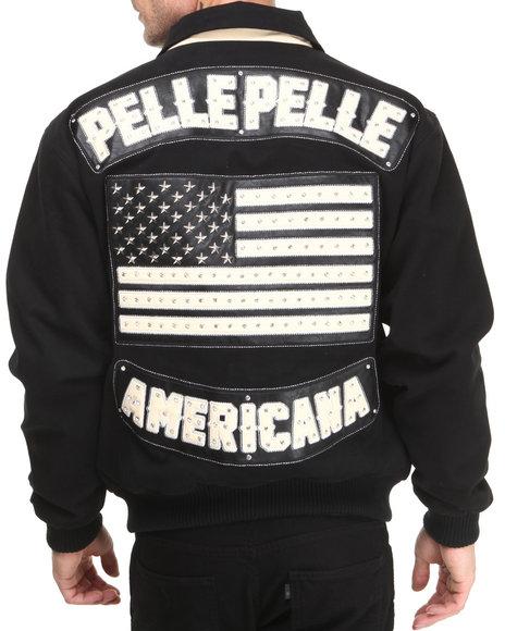 Pelle Pelle Black Americana Twill Jacket
