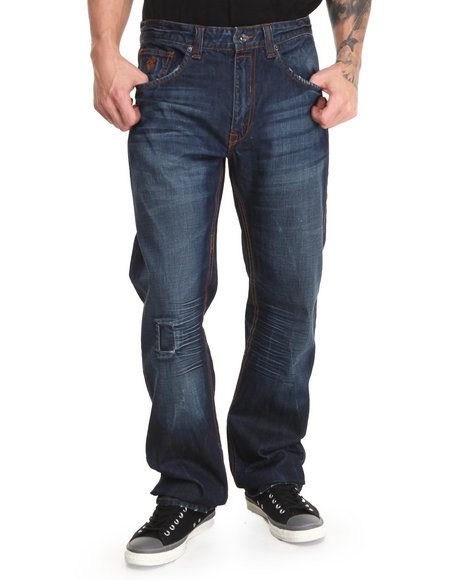 Rocawear - Men Dark Wash Heavy Hand Original Fit Jeans