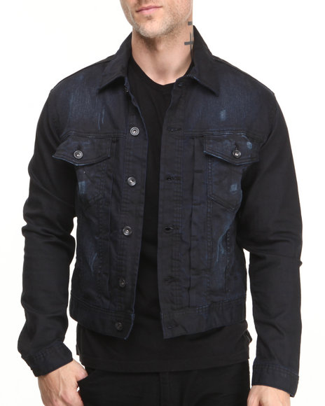 Rocawear - Men Blue Volume Denim Jacket