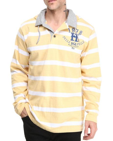 Pelle Pelle Tan Pelle Sandstone Heritage Hooded Rugby Shirt
