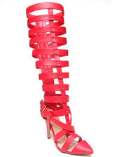 Fashion Lab - Natalie Pointy Toe Tall Gladiator Pump