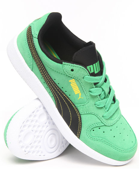 Puma Boys Green Icra Trainer Jr Sneakers (11-7)